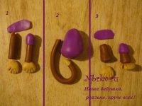 Как сделать из коричневого пластилина 160