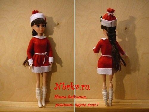 Новогодний костюм из фетра для куклы Эбби. - photo#20