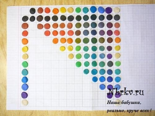Таблица смешивания цветов пластилина